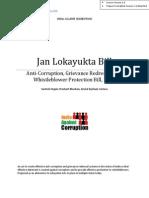 Jan Lokayukta Bill proposal (Praja Reformat)