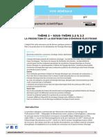 RA20 Lycee G T ES Theme2 Soustheme2.2-2.3 Pruduction-distribution-Energie 1321767
