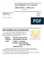 Jodo Mission of Hawaii Bulletin - April 2011