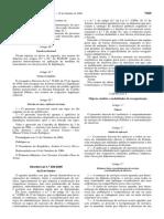 Decreto-Lei n.o 200-2006 Fusão Reestruturação
