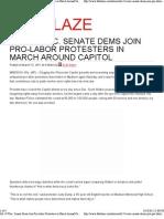 All 14 Wisc. Senate Dems Join Pro-Labor Protesters