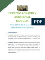 Derecho Agrario y Ambiental Semana 1 Modulo i Clase II
