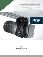 Instruction Manual Installation Instructions Belt Conveyor