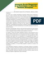 Conclusiones Comisión Humanitaria / 20 de Julio de 2021