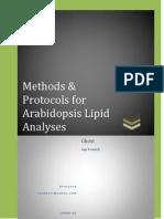 Methods & Protocols for Arabidopsis Lipid Analyses