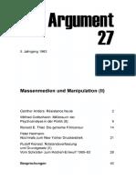 DA027 Massenmedien Und Manipulation (II)