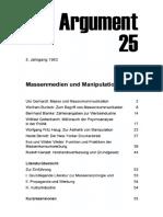 DA025 Massenmedien Und Manipulation