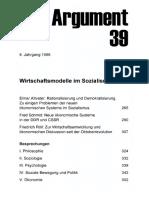 DA039 Wirtschaftsmodelle Im Sozialismus