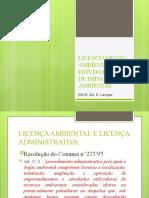 LICENCIAMENTO AMBIENTAL e ESTUDO PRÉVIO DE IMPACTO AMBIENTAL