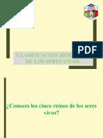 1.CLASIFICACION DE LOS SERES VIVOS