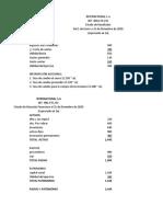 TALLER 1 CONVERSION DE ESTADOS FINANCIEROS contabilidad 5