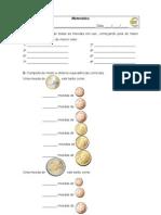 M.2ºano- valor das moedas, problemas com cêntimos 10-11