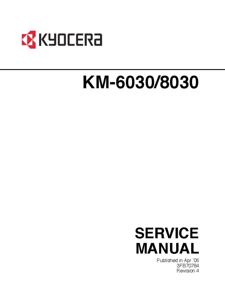 Kyocera Mits KM 6030- KM 8030-Service MANUAL | Photocopier | Image
