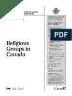 Religious Groups in Canada
