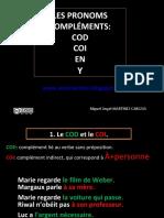 The French Pronouns COD COI Y EN