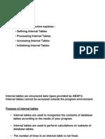 Internal-Tables