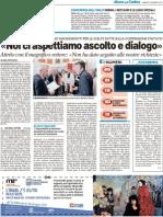 """""""Ci aspettiamo ascolto e dialogo"""" - Il Resto del Carlino del 26 marzo 2011"""