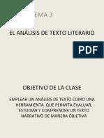 El Analisis de Texto Literario