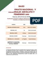 Nacional Absoluto y Femenino de Huancayo 2011