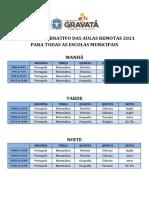 HORÃ_RIO ALTERNATIVO DAS AULAS REMOTAS 2021 pdf