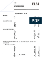 Valve & Amplifier Design, EL34 (6CA7) Data, Mullard Valves