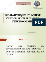 Cours de Biostatistique 26 09 2018