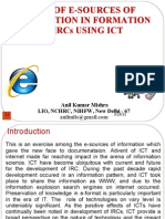Role of E-sources of Information in Formation of IRC Using ICT - Anil Mishra