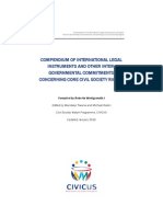 The Compendium of International Legal Instruments and Other Intergovernmental Commitments Concerning Core Civil Society Rights
