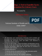 RSS Technology- A Tool to Expedite Up-To-date Information for Library Users - Anil Mishra