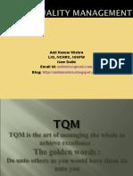 Total Quality Management (TQM) - Anil Mishra