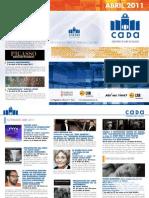 Programación CADA Alcoy Abril 2011 Obra Social Caja Mediterráneo