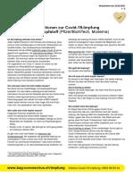 Allgemeine Informationen Zur Covid-19-Impfung Mit Einem MRNA-Impfstoff