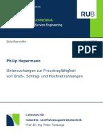 Untersuchungen zur Fresstragfähigkeit von Groß-, Schräg- und Hochverzahnungen - Hepermann