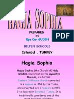 Class Powerpoint on the Hagia Sophia by Egecan at Bilfen Schools, Istanbul, Turkey