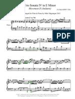 BWV 528 2. sats klaver
