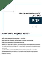 Esquema del Borrador Plan Canario de I+D+i 2011-2015