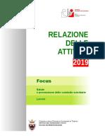 Relazione Attivita del Garante dei detenuti della Provincia di Trento