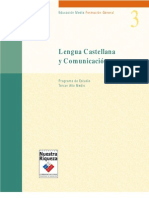 Programa Lenguaje y Comunicación Tercero Medio