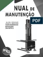 Manual empilhadeira semi eletrica BYG