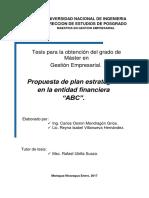 Tesis Gestión Empresarial_Plan Estratégico entidad Financiera