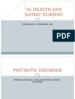 Mental Health and Psychiatric Nursing Report