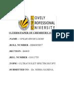 ULTRAVIOLET SPECTROSCOPY TERM PAPER 12