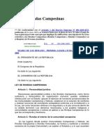 2. LEY DE RONDAS CAMPESINAS
