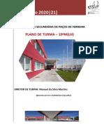 Plano de Turma -10ºM 2020-2021
