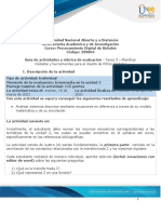 tarea 3 - Planificar métodos y herramientas para el diseño de filtros digitales