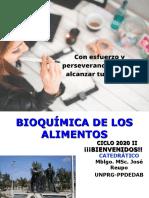 Bioquimica de Lo0s Alimentos (Intro) Semana 1