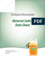 XFT Material Safety Data Sheet MSDS