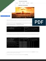 Ataque Destruction Mode - mundohackers