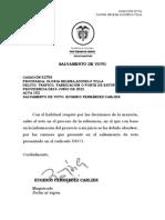 SALVAMENTO DE VOTO 52755 -  DR QUINTERO