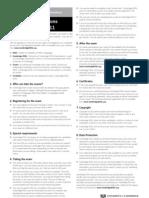 CAE summary_regulations